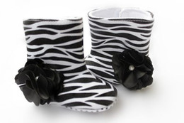 New Spring Autumn Winter Baby Kids Boots Zebra Black Big Flower 0-2Year Toddler Boys girls First Walker Boots Infant Shoes 12pair lot Melee