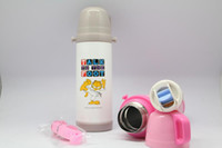 Wholesale Children s Plastic Double Wall Stainless Steel Vacuum Bottle Thermos Fashion Sports Bottle With Straw Chinese Tea Interval Cup