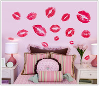 Wholesale Sexy lips wall sticker bedroom a sitting room background wall red wall post