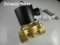 Wholesale Electric Solenoid Valve Water Air N C V AC quot