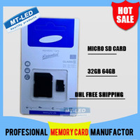 Wholesale 60PCS DHL high speed SS GB GB Class Micro SD TF Memory Card with Adapter Retail Package Flash SDHC Cards Transflash