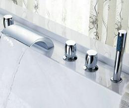 Wholesale Big Waterfall Bathroom Ceramic valve Tap Chrome Sink Tub Faucet CM0522