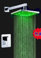 Wholesale chuveiros chuveiro led torneiras torneira led Bathroom Shower Faucet Shower Set Faucet Tap