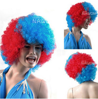 Mix Color Curly Straight Free shipping cheap colorful ball fans wigs Party RPG Christmas Halloween wigs Hot Selling girls wigs