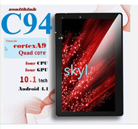 Wholesale DHL FREE Zenithink C94 Quad Core Android MID quot Allwinner A31S GHz Cortex A9 G DDR3 GB Tablet PC ZTPad Dual Camera HDMI