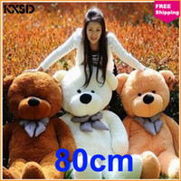 Teddy Bear Deep Brown Plush 80cm Wholesale Children Toy New Hot Doll Plush Toys Large Teddy Bear For Sale Giant Big Embrace Bear Doll Lovers Christmas Birthday Gift