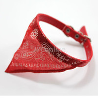 Wholesale adjustable Pet dog puppy red collar bandana scarf make your pet personality Gift