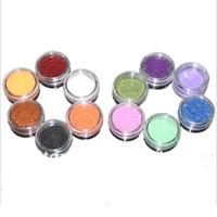 Cheap New 2014 Free Shipping 12 Mix Color Nail Art Glitter acrylic powder for nail decoration set,shape glitter Gift 053