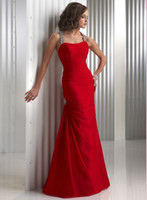Latest Sexy Halter A- line Strapless Chiffon Red Custom- made ...