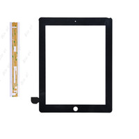Wholesale OEM Touch Screen Glass Panel With Digitizer With Buttons M Glue Adhesive Replacement Black And White For iPad Free DHL EMS