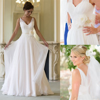 Gothic Backless Cheap Formal Pleated Garden Sheer Bride Wedd...