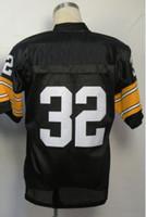 Wholesale Free Shippping American Men s Football Jerseys Franco Harris Black Throwback Jerseys