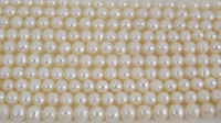 Wholesale New Arriver White Color Genuine Freshwater Pearl Loose Beads Strands mm Inches Pearl Jewelry New