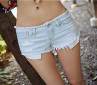 Cheap Vintage 2013 Suitable For All Season Washed Shorts Low Waist Ripped Denim Hot Shorts,Beach Jeans Short S,M,L
