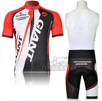 Wholesale 2014 high top cycling jersey bib shorts Giant cycling team jersey newest short sleeves bid cycling jersey