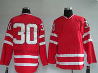 Ice Hockey Men Full Red Classic winter olympic Canada 30 brooeur Hockey Jerseys Cheap Red Ice Hockey Jerseys Blank Hockey Wears High Quality Outdoor Uniform
