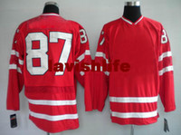 Ice Hockey Men Full Red Hockey Jerseys Mens New Style Sports Jerseys olympic Canada 87 crosby High Quality Outdoor Jerseys 2014 Top Sellers Athletic Apparel