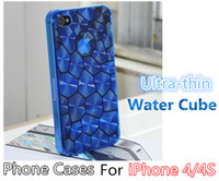 Wholesale iPhone s case PC Plastic mm Thickness Water Cube Pattern Wearable Not Easy Break L002