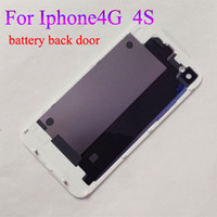 Wholesale Back Glass Battery Housing Door Back Cover Replacement Part with Flash Diffuser for iphone G S