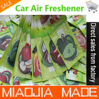 Wholesale for a fruit paper air freshener paper perfumed car air freshener