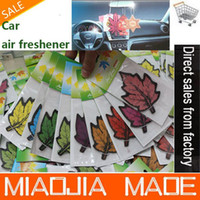 Wholesale for for a maple leaves paper air freshener paper perfumed car air freshener