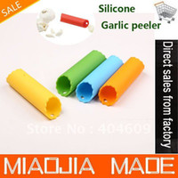 Wholesale 15PC New Creative Silicone Garlic Peeler Peel Easy Kitchen Tool Garlic peeling devices magic peeling