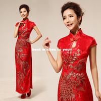 Wholesale New wedding dress sexy Chinese cheongsam fashion improved cheongsam cheongsam red wedding bride retro