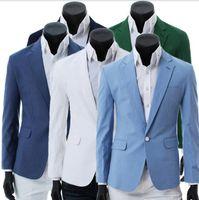 Wholesale New Men s Small suit Coat Outerwe Men s Slim Solid color A buckle Small suit Coat Outerwear