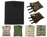 Wholesale 7 colors D Outdoor Military Airsoft Molle Tactical Magazine DUMP Drop Pouch with Molle Belt For Hunting Tactical Bag