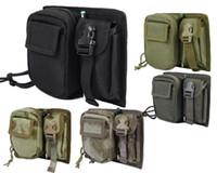 Wholesale 5 Colors Airsoft Molle Tactical D Nylon Utility amp Mobile Phone Pouch Combat Camo Wargame Bag High Quality Magazine Pouch men