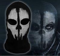 black cod - Call of Duty COD Cosplay Balaclava Ghost Skull Face Mask Skateboard Bike Hood Caps Hats Full Masks Sports CS performance props black