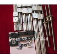 Wholesale 3SET supported linear rails SBR20 mm ballscrews RM1605 BK BF12 couplers