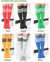 Wholesale New HOT World Cup Man Women Pure color High Stripe Knee Socks Soccer Baseball Football Basketball Sport Socks high quality