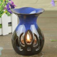 Home Use color flame - Dia cm HOT Sale Flame Design Color Essential Oil Burner Home Fragrance Holder Valentines Gift DC817