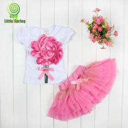 Wholesale DHL Fedex EMS Sumer girls dress pc sets girls D big flower amp KT dress set amp girl cat tutu skirt pans pc sets color choose T Melee