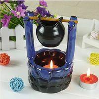 home fragrance oil - Dia cm Classic Well Design Color Ceramic Fragrance Oil Burner Essential Oil Container Premiums Gift DC818