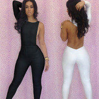 Casual Dresses Strapless A Line dresses New Fashion 2013 Sexy Jumpsuit Women Bodycon One Shoulder Backless White And Black Jumpsuit Free Shipping 5049
