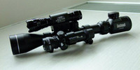 Wholesale - CleanPower Brand,3-9X40 E rifle gun airsoft hunting Scope scopes w Red Laser 501B Flash Torch Free Shipping