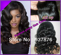 silk top full lace wigs - Super quality Body wave Malaysian Virgin human hair silk Top full lace wig Front Lace wig in stock with baby hair
