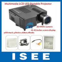 Wholesale ANSIL Lumens Multimedia LED LCD Portable Projector with music photos videos eBooks