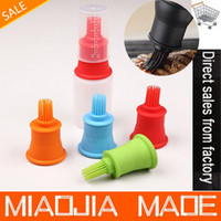 Wholesale 2PC kitchen silicone oil brush Cake Tools for Melted Butter Chocolate Egg Yolks Oil Silicone Brush