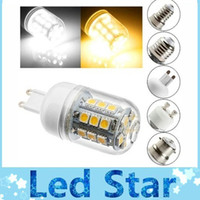 Wholesale E14 E27 B22 G9 GU10 W SMD LED Light Bulb with Clean Cover Warm Cool White Led spotlights beam angle AC V V