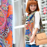 Cheap Chiffon scarves Korean winter wagon wheel Ferris wheel disc pattern scarf shawls wholesale