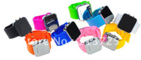 Wholesale 9 PLASTIC Color Head border Good Quality silicone LED Mirror watch tracking number
