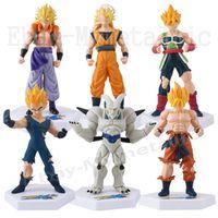 Wholesale 6x Dragon Ball Z Super Saiyan Goku Vegeta Badakshan cm cm PVC Figure Set