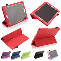 Cheap Wholesale - Ipad case Ipad Cover Magnetic Cases For iPad Air 5 iPad 2 3 4 iPad Mini Retina PU Leather With Sleep Wake Funtion with touch pen
