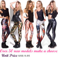 Wholesale Sexy woman within models of digital printing thin tights leggings K33