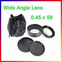 Wholesale 58mm x Wide Angle amp Macro HD Conversion Lens mm Front Thread Metal AF Anti reflecting for Canon D D D Rebel xsi T1