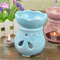 Wholesale Dia cm Classic Color Essential Oil Burner Fragrance Container Ceramic Craft Gift Home Decoration DC826