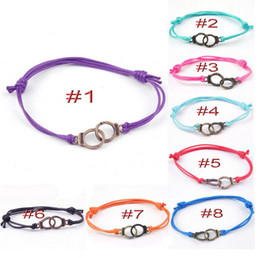 European and American hot selling personalized handcuffs adjustable braided bracelet alloy bracelet YH-17 wholesale